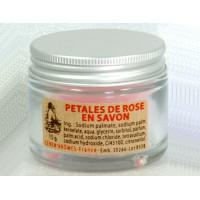 Pétales de rose en savon - Pot de 15g