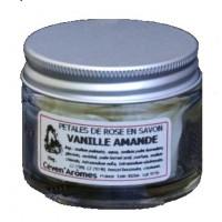 Pétales de rose Vanille-Amande en savon - Pot de 15g