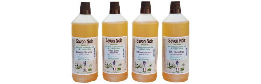 Savon noir liquide aux huiles esssentielles BIO