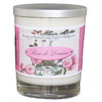 Rose de Damas Bougie Artisanale
